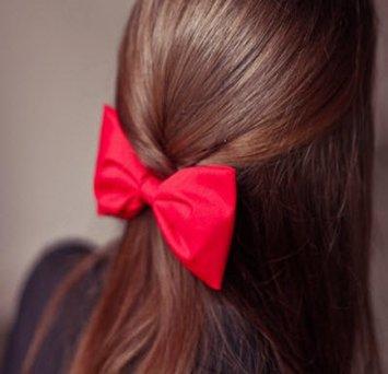 Бант на волосы своими руками из ленты фото